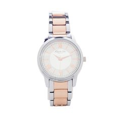 I love the Kenneth Cole New York Silver And Rose Gold Watch from LittleBlackBag