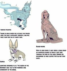 """""""It's this spooky month to remind everyone that adopting a hellhound is not just for life but for afterlife as well! I made an information chart so everyone can know there good (?) boy before make an informed decision! Know your Hellhounds! Mythical Creatures Art, Mythological Creatures, Magical Creatures, Fantasy Creatures, Creature Concept Art, Creature Design, Creature Drawings, Animal Drawings, Fantasy Beasts"""