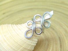 Items similar to Filigree Ring Aluminum Ring Any Size Wire Wrap Ring Swirl Ring Wire Wrap Hammered Jewelry Gifts Under 10 Artisan Handmade on Etsy