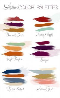 Autumn Wedding: Color palettes