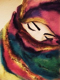 Suffering is a gift; in its hidden mercy. Art Drawings For Kids, Art Drawings Sketches Simple, Art Scratchboard, Art Du Croquis, Art Du Collage, Art Visage, Indian Folk Art, Indian Art Paintings, Islamic Art
