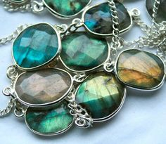 Look at all these labradorite pendants!