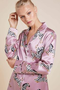 Olivia Von Halle, Silk Pajamas, Pyjamas, Silk Pjs, Lingerie Sleepwear, Nightwear, Pijama Satin, Silk Stockings, Girl Fashion