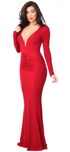 Anastasia Red Maxi Dress