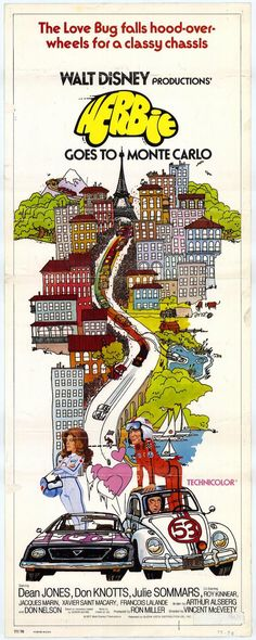 "Walt Disney's ""Herbie Goes to Monte Carlo"" (1977) Stars: Dean Jones, Don Knotts, Julie Sommars, Roy Kinnear, Bernard Fox, Eric Braeden ~ Director: Vincent McEveety"
