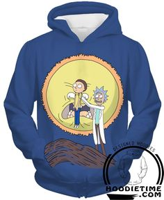 Rick and Morty Lion King Hoodie - Screaming Sun - 3D Pullover Hoodies and Clothing