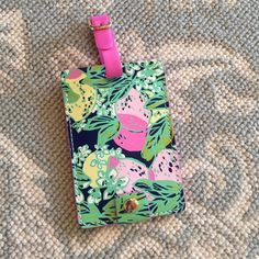 Lilly Pulitzer spill the juice luggage tag Cute Lilly Pulitzer Accessories