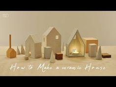 도자기 캔들 홀더 만들기 : How to Make a Ceramic Candle Holder [ONDO STUDIO] - YouTube Ceramic Christmas Decorations, Candle Packaging, Ceramic Candle Holders, Miniature Houses, Bird Houses, Packaging Design, Miniatures, Pottery, Candles