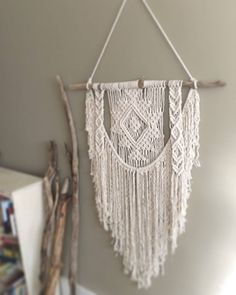 Large Macrame Wall Hanging; Tapestry; Bohemian Decor; Boho design; Tribal Wall Hanging by TheNaughtyKnots on Etsy https://www.etsy.com/listing/479514914/large-macrame-wall-hanging-tapestry