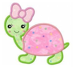 Turtle applique machine embroidery design