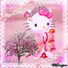 Sanrio Hello Kitty, Hello Kitty Art, Little Twin Stars, Keroppi, Hello Kitty Imagenes, Cat Gif, Kitty Gif, Pretty Cats, Pretty Kitty