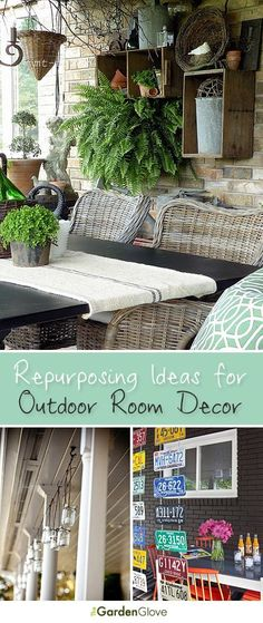 Repurposing Ideas for Outdoor Room Decor! - Repurposing Ideas for Outdoor Room Decor! Repurposing Ideas for Outdoor Room Decor Outdoor Rooms, Outdoor Gardens, Outdoor Living, Outdoor Decor, Outdoor Ideas, Jardin Decor, Vibeke Design, Outside Living, Decks And Porches