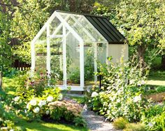 Greenhouse combined with a shed.