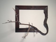 Wood frame with grafted manzanita branch  Agnes by FusionFramesNW, $160.00