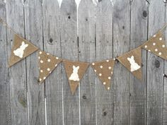 Burlap Easter bunny pennant banner