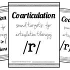 /r/, /r/ blends, & /ɝ/ Sound Targets for Articulation Therapy {coarticulation}  Read more about why this will make you efficient at www.puttingwordsinyourmouthbymia.blogspot.com
