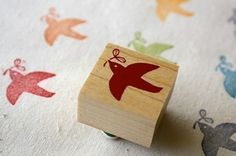 Happy bird - Wood and Rubber Japanese Stamp