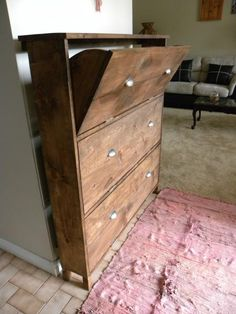 Shoe dresser Ana White I need to build this with 2 cupboards side by side and 1 cupboard tall to go under the entryway table. Then place baskets on top of this shoe dresser. Furniture Projects, Furniture Plans, Home Projects, Diy Furniture, Business Furniture, Furniture Movers, Cabinet Furniture, Furniture Design, Diy Shoe Storage