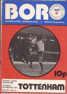 We offer a huge range of Middlesbrough programmes for sale, browse the site and buy online. We also buy Middlesbrough programmes. Middlesbrough Fc, Football Program, Tottenham Hotspur, Boro, Programming, Magazines, Soccer, Graphics, Journals