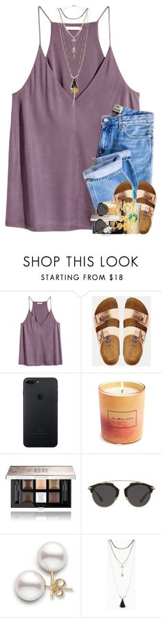 """""""i look over at you and see sunshine."""" by theblonde07 ❤ liked on Polyvore featuring Birkenstock, Jo Malone, Givenchy, Christian Dior, WALL, Torrid and Chan Luu"""