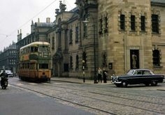 Tram passing Clydebank Town Hall. (Jack Carson) Glasgow City, Old Photographs, Town Hall, Scotland, Ireland, Street View, Places, Cities, Pictures