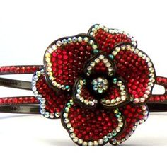 Amazon.com: Bling Bling! Flower Headband with Red & Ab Rhinestones: Everything Else