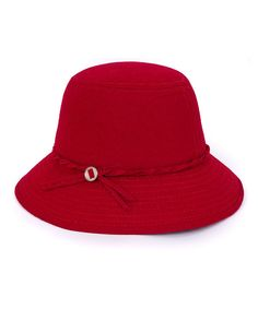 Look at this Magid Red Cloche Hat on #zulily today!