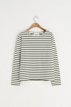 Candy Colour Heavy Weight Stripe Tee, Candy Green