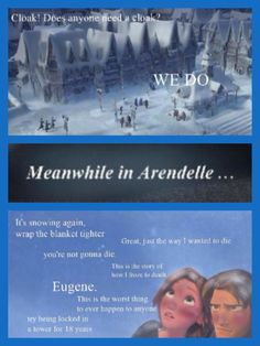 Frozen / Tangled Crossover - When Queen Elsa sets off an eternal winter in Arendelle, Princess Rapunzel and Eugene Fitzherbert are trapped there, while Princess Anna goes to look for her sister.