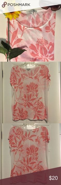 Floral Pink Blouse This floral pink blouse is perfect for any kind of day! It comes in a size medium and is 50% rayon and 50% polyester. It's a flowy shirt which makes it comfortable to wear! Let me know if you're interested! Forever 21 Tops Blouses