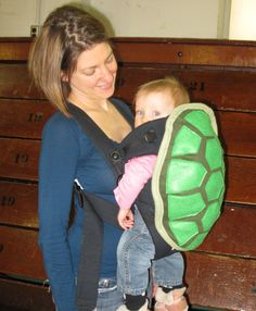 Turtle Shell Baby Carrier Accessory Bjorn Cover with Huge Storage Pocket. Ohmigaaaawd!!! I wish I had a kid just so I could stuff it in one of these!!!!