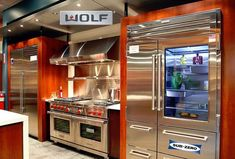 Wolf Appliance, Inc. All of the Sub-Zero and Wolf products are made in the USA with superior grade components, they are designed and tested for extraordinary longevity. Many of their products are built in Madison, WI which is centrally located in the northern United States, this reduction of global transportation and shipping, helps to lower the cost of fuel and reduces our countries carbon footprint. Address: 4717 Hammersley Rd., Madison, WI 53711-2708