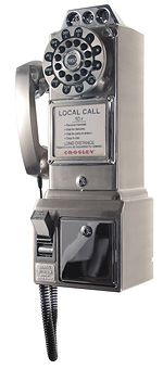 Look at this 1950's Pay Phone....it is a long way from an I phone.  So much more durable!