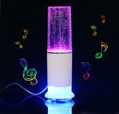 Touch Sensor LED Table Lamp With Mini Speaker Sensor Control Water Speaker