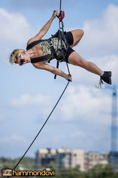 """Aerial dance on climbing gear... """"I think I'll just belay myself thank you very much."""""""