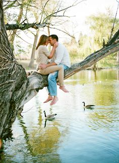 Two Little Love Birds Sitting In A Tree, K.I.S.S.I.N.G » Colorado Fine Art Wedding Photographer // Rachel Havel Photography