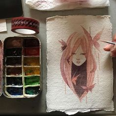 """@tebo.1  """"Painting by @shardula. Tag: #_tebo_"""" (Not the original source, but I like the use of paper.)"""
