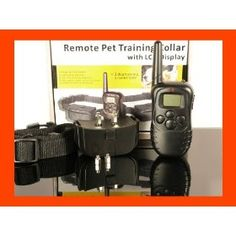 Remote Pet Trainer LCD display Dog Electric Training Collar With Remote Controller