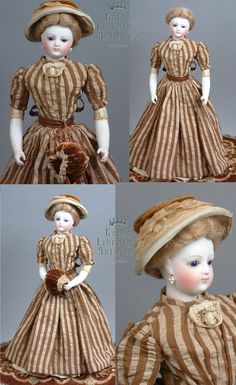 """Exemplary 13"""" Early Jumeau French Fashion Poupee C. 1875 With Bisque from kathylibratysantiques on Ruby Lane"""