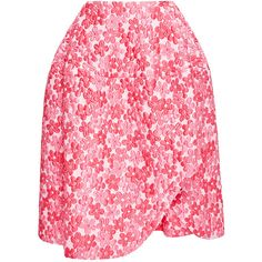 Simone Rocha Floral-Cloque Asymmetric Skirt (77.740 RUB) ❤ liked on Polyvore featuring skirts, bottoms, saias, pink, simone rocha, ballet skirt, pink ballerina skirt, print skirt and pink asymmetrical skirt