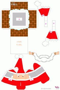 Santa and chimney Christmas Activities, Christmas Printables, Craft Activities, Christmas Crafts, Christmas Decorations, Christmas Ornaments, Christmas To Do List, All Things Christmas, Xmas