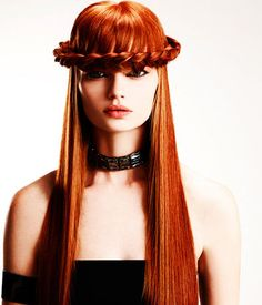 präsentiert von www.my-hair-and-me.de #red #hair #haare #ring #geflochten #straight #glatt #rot
