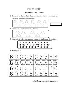 Set de Fise cu cifre punctate de la 1 la 10 - gradinita - 19 | Fise de lucru - gradinita