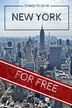 New York is one of the mos expensive cities in the world, but only for those who are willing to spend money. Here is a list of things to do in NY for free and still being able to enjoy this city to it's full potential.