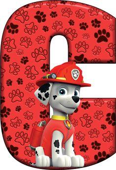 U Paw Patrol - Marshall Bolo Do Paw Patrol, Cumple Paw Patrol, Paw Patrol Cake, Paw Patrol Party, Paw Patrol Birthday Theme, Dog Birthday, Imprimibles Paw Patrol, Alphabet Birthday, Disney Coloring Pages