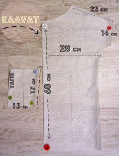 DIY helppo laatikkopaita. A 17, Sewing Hacks, Clothing Patterns, Fabric Crafts, Mens Tops, Clothes, Handicraft Ideas, Diys, Ebooks