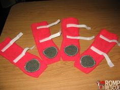 DIY Dog booties - me thinks gus is not going to be so appreciative...