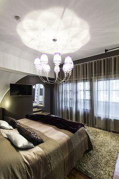 Detached house, interior design, bedroom. Omakotitalo, sisustussuunnittelu, makuuhuone. Egnahemshus, inredningsdesign, sovrum.