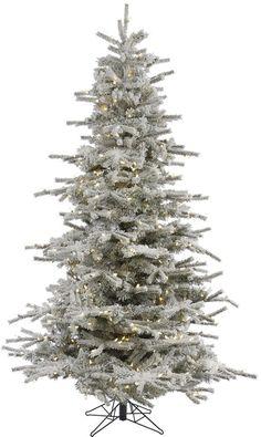 Flocked Artificial Christmas Tree with 600 Warm White LED Lights Home Decor #ChristmasTree #Artificial #Lights #Decor #PreLit #LEDLights #Christmas #ChristmasDecor #Holiday #Seasonal #HomeDecor #HolidayDecor