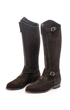 Ladies Leather Polo Boot With Zip
